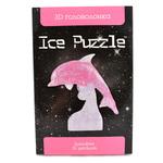 3D головоломка Ice puzzle Дельфин розовый