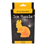 3D головоломка Ice puzzle Кролик прозрачный и золотой