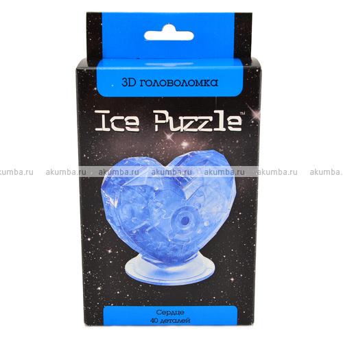 3D головоломка Ice puzzle Сердце голубое