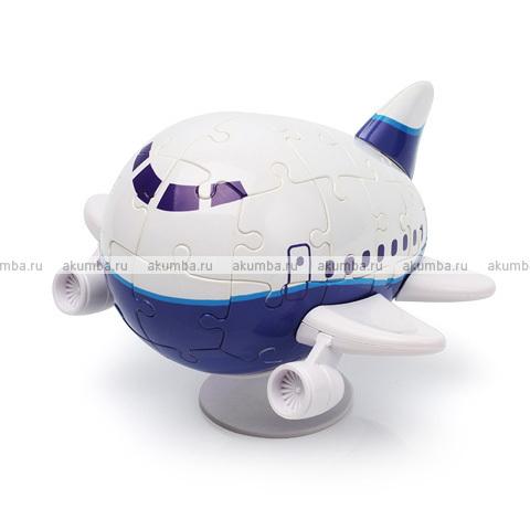 3D Пазл Самолетик Аэро 40 деталей, 11,5 см