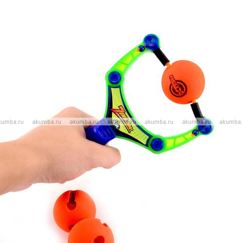 Zing Shot рогатка с мягкими мячиками, дальность до 15 метров