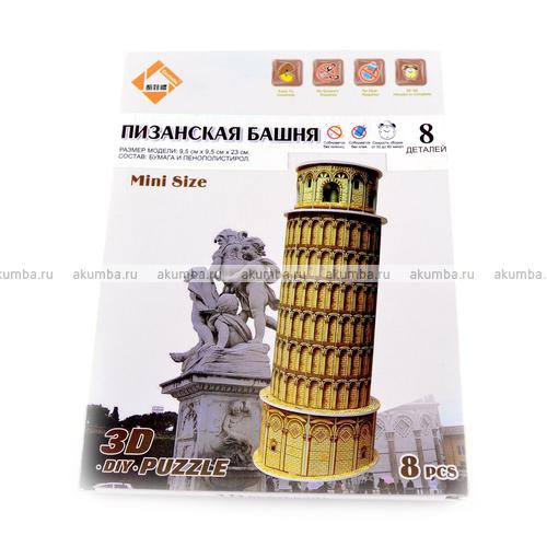 Картонный пазл Пизанская башня