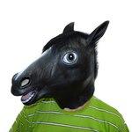 Черная маска голова лошади (коня), Black Horse Mask