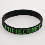 Черный браслет на руку Minecraft