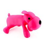 Мягкая игрушка Собака лежачая розовая