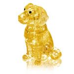 3D кристал пазл Собака, желтая