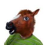 Коричневая маска голова лошади (коня), Brown Horse Mask