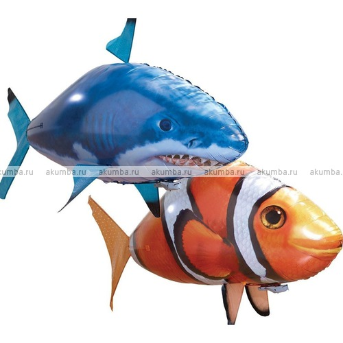 Летающая рыба акула+клоун (2 шара с 1 мотором)