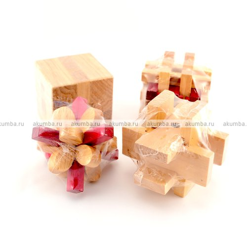 Набор из 4 деревянных головоломок