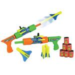 Пистолет ZoomZooka, стреляет ракетами до 20 м + водой