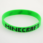 Зеленый браслет на руку Minecraft